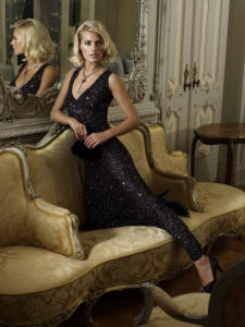 Glittering black evening dress by Phase Eight �140